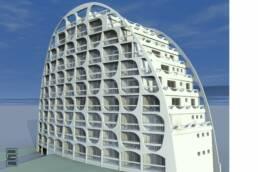 renovation copropriété façade la grande motte